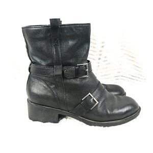 Cole Haan Nike Alix Moto Ankle Boots Sz 9B